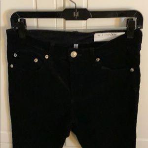 Rag & Bone black velvet skinnies